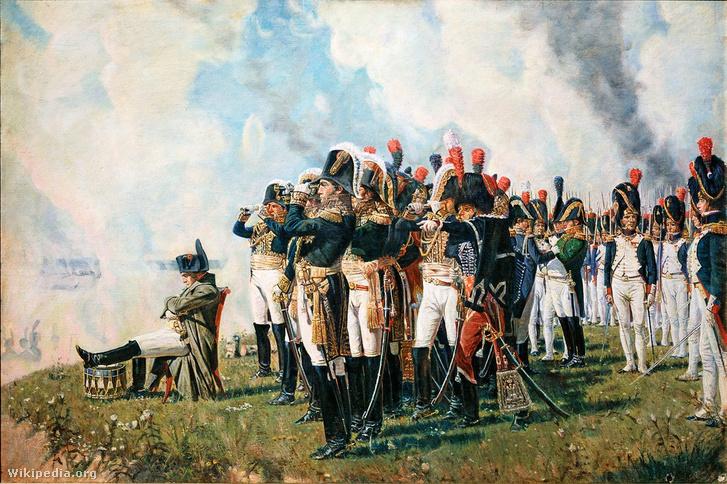 Napóleon a borogyinói csatában. Vaszilij Vasziljevics Verescsagin festménye