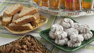 Várd a vendégeket ghribával, marokkói szezámmagos kekszekkel!