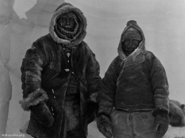 Alfred Wegener (balra) utolsó fényképe