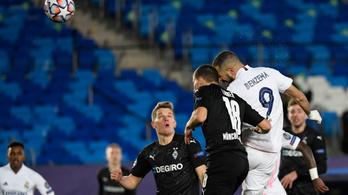 Benzema továbbfejelte a Real Madridot a Bajnokok Ligájában
