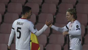 A Milan norvég csodagyereke megszerezte csapatának a csoportelsőséget
