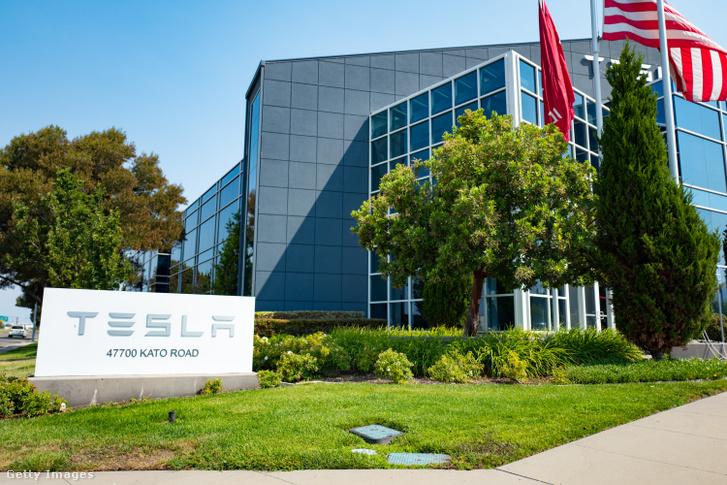 A Tesla egyik irodája a Szilícium-völgyben.