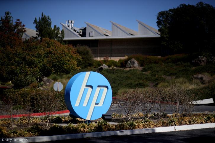 A Hewlett Packard logója Kaliforniában.