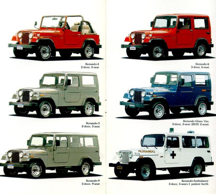 Az alsó, hosszú verzió a Korando K9, amit a felső piros színben kell elképzelni
