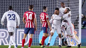 Vége a 26 meccses sorozatnak, az Atlético letérdelt a Real Madrid előtt