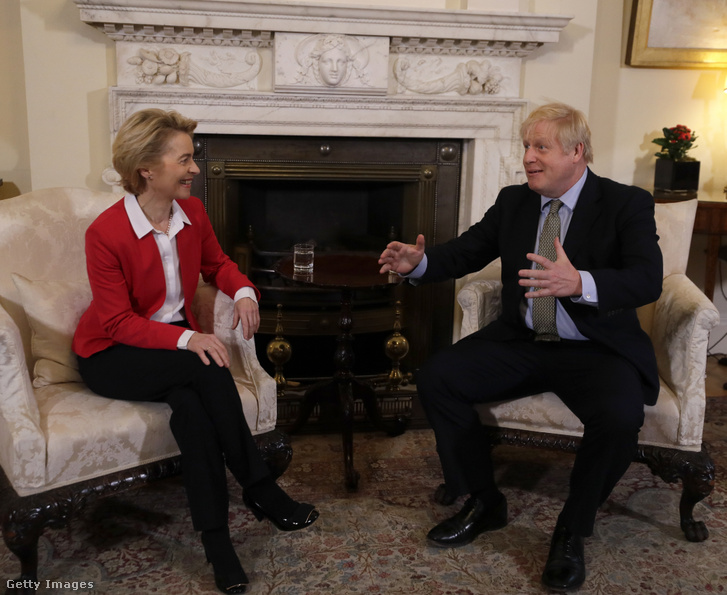 Ursula von der Leyen és Boris Johnson