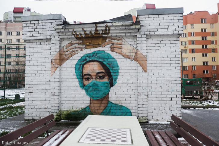 Falfestmény Szentpéterváron