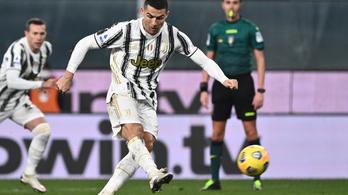 Ronaldo büntetőből duplázott a 100. juvés meccsén