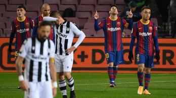 Messi szállította a győzelmet a kínlódó Barcelonának