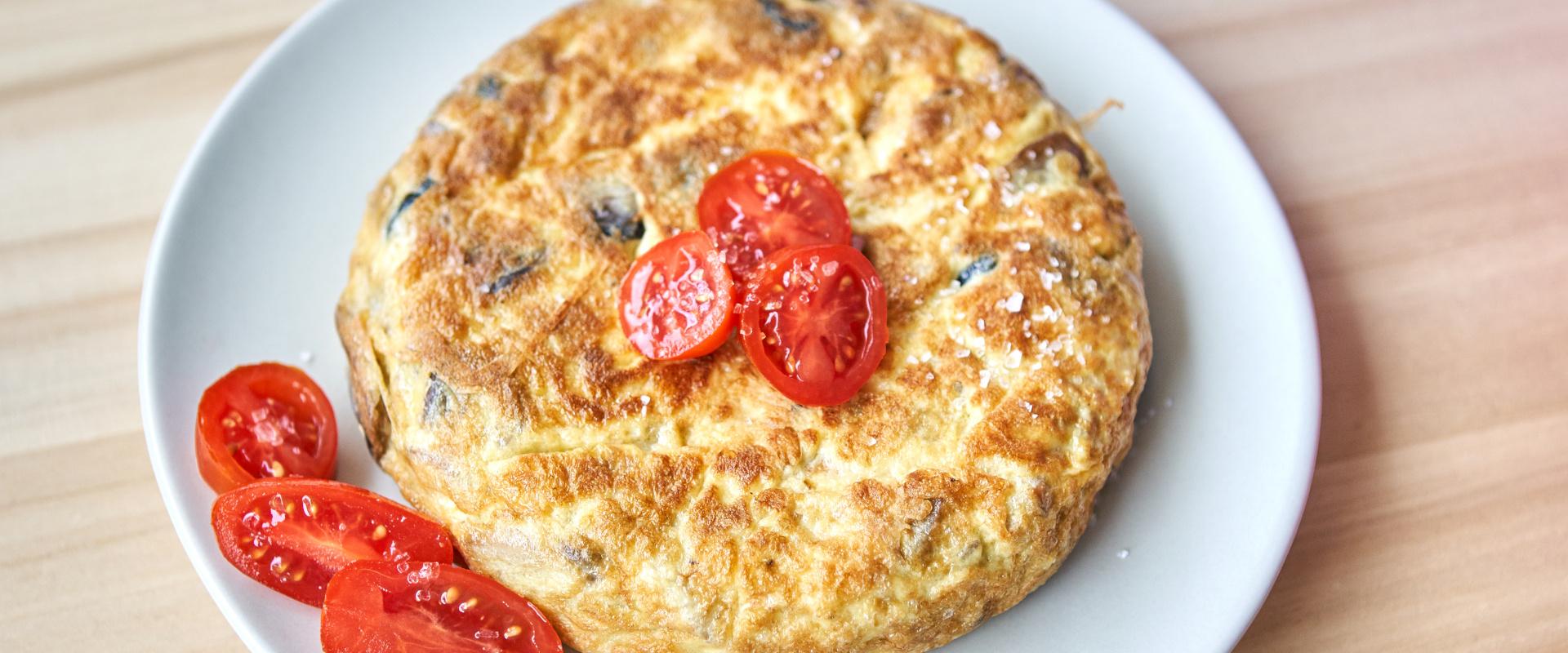 gombás omlett cover