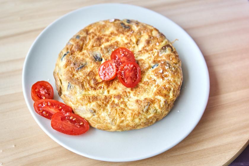 gombás omlett recept