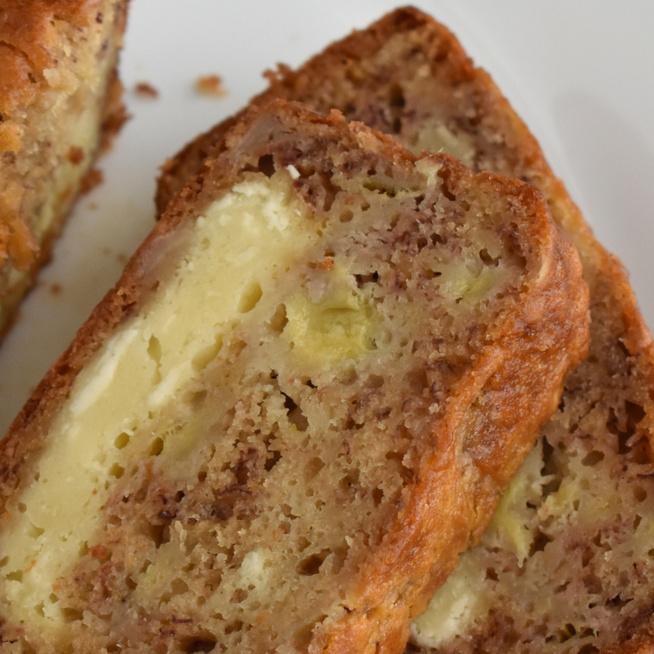 Puha banánkenyér krémsajttal a közepén – Még szaftosabb lesz így a sütemény