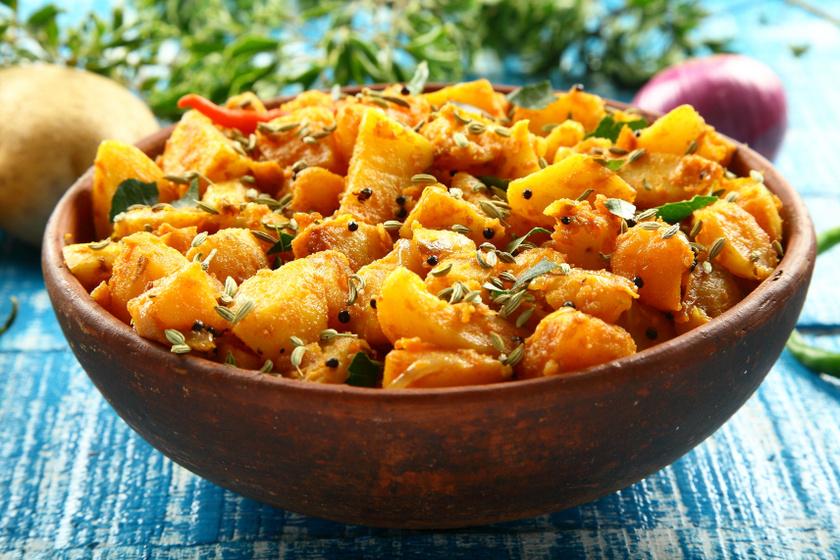indiai krumplisaláta recept
