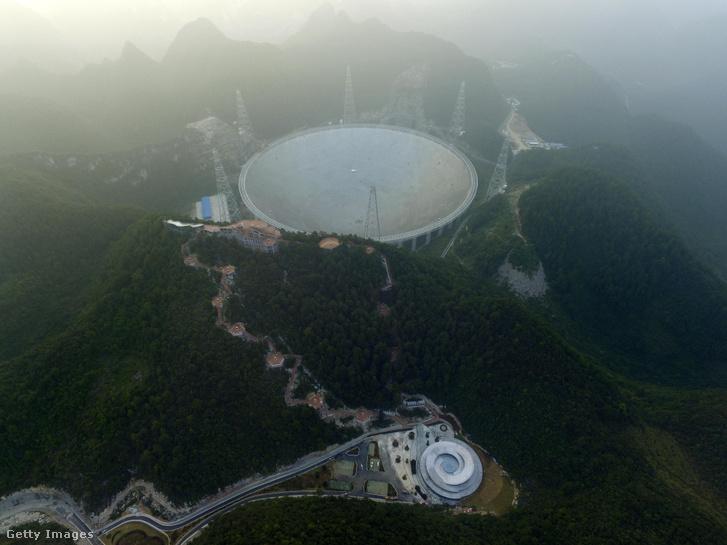 Szeptember 25. 13 évi tervezés és ötévi építés után elkészült és működésbe lépett a Mennyei Szem, azaz a hatalmas kínai teleszkóp, a Five-hundred-meter Aperture Spherical radio Telescope (FAST)