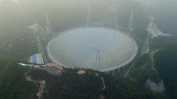 Külföldi kutatókat vár a kínai óriásteleszkóp