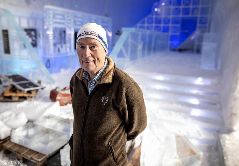 Yngve Bergqvist harminc évvel ezelőtt alapította a létesítményt, amely nem kizárólag jégből áll, de nagyrészt azért igen.