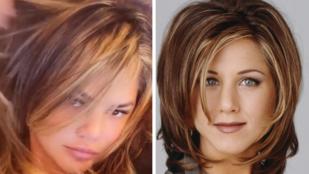 Ön szerint is hasonlít Chrissy Teigen új fazonja Jennifer Aniston ikonikus frizurájára?