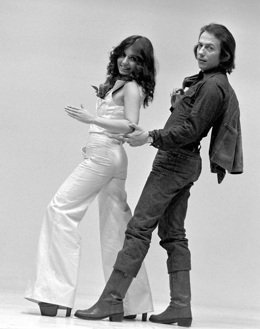 Vincze Viktória és Zorán Sztevanovity táncdalénekesek 1977 februárjában.