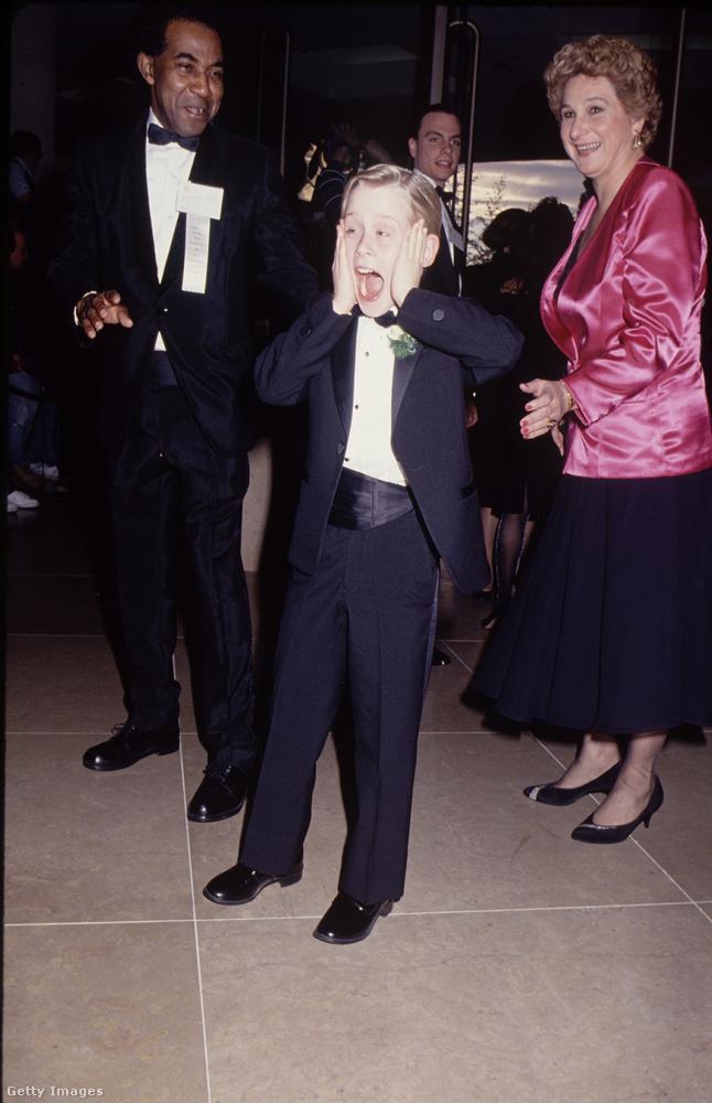Az 1991-es Golden Globe-kiosztón is mindenki szeretett volna egy sikítós képet Culkinról.