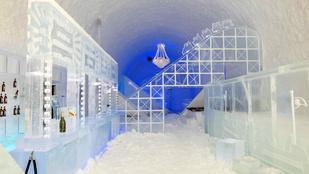 Jéghullámvasút és elvarázsolt fa is van idén a világ első jéghotelében