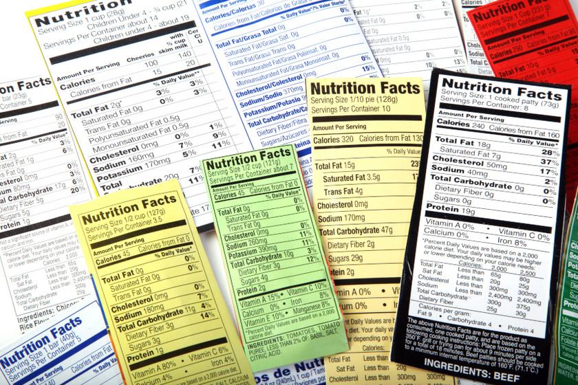 élelmiszer címke belső