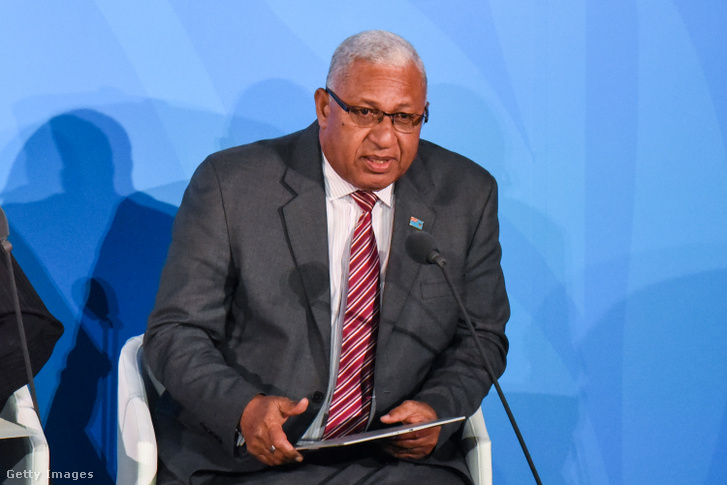 Frank Bainimarama, a Fidzsi-szigetek miniszterelnöke.