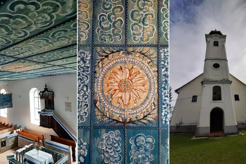 A falu 74 éves iskolamestere festette a bárányfelhőket a templom mennyezetére: Szentgyörgyvölgy temploma valóságos csoda