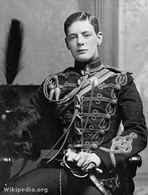 Churchill katonai egyenruhában, 1895