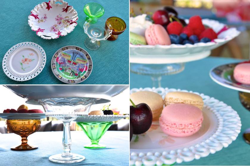 Válogass néhány egymással harmonizáló, színes műanyag tányért és fagyikelyhet, ragaszd össze őket, és kész is a tortatálad!