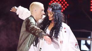 Eminem bocsánatot kér Rihannától, amiért annak idején a nőverő Chris Brown mellett állt ki