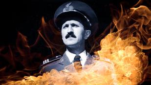 A hős tűzoltó, akit társai locsoltak, hogy meg ne gyulladjon