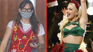 Jennifer Garner vicces mellénnyel, Gwen Stefani karácsonyfadresszel készül az ünnepekre