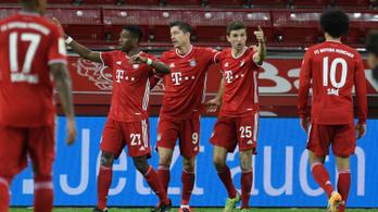 Lewandowski a 93. percben lőtte élre a Bayernt a Bundesligában