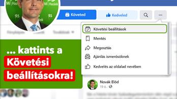 Novák Elődnél is machinált valamit a Facebook