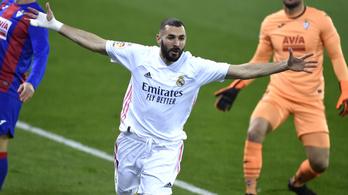 Már a második helyen a Real Madrid a La Ligában