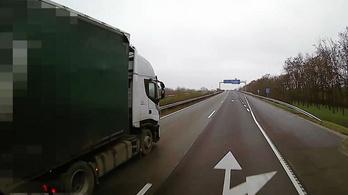 Bekamerázott kamion volt a rendőrség csalija az M5-ösön