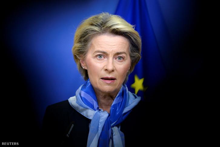 Ursula von der Leyen 2020. december 21-én.