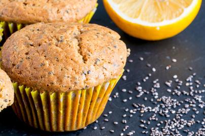 Puha citromos muffin chia maggal a tésztájában – Cukor helyett méz édesíti