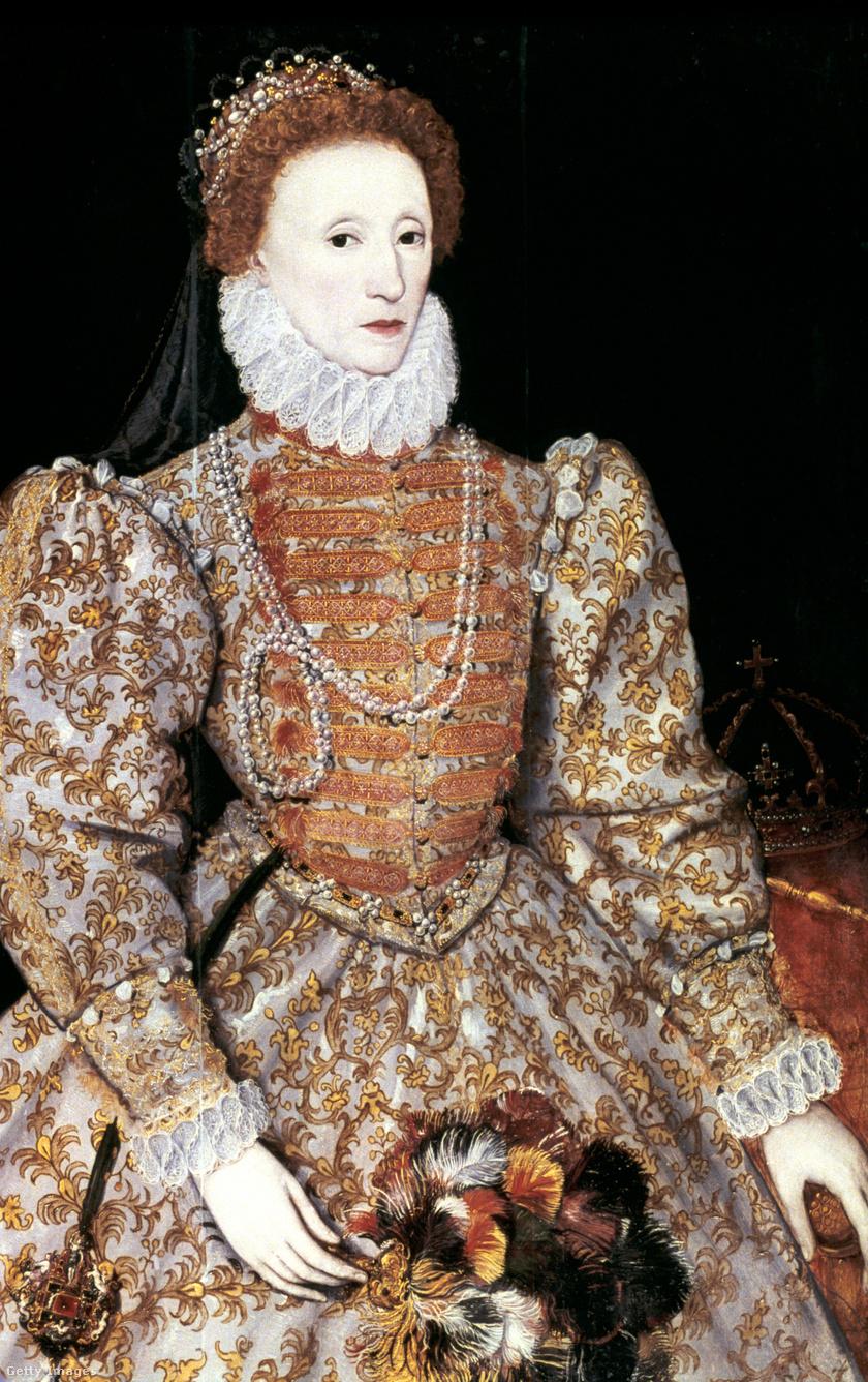 I. Erzsébet, Anglia és Írország királynője, 1588 körül. Ismeretlen alkotó.