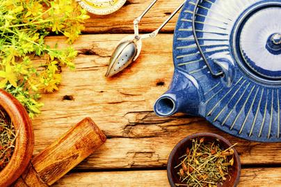 orbáncfű gyógynövény tea