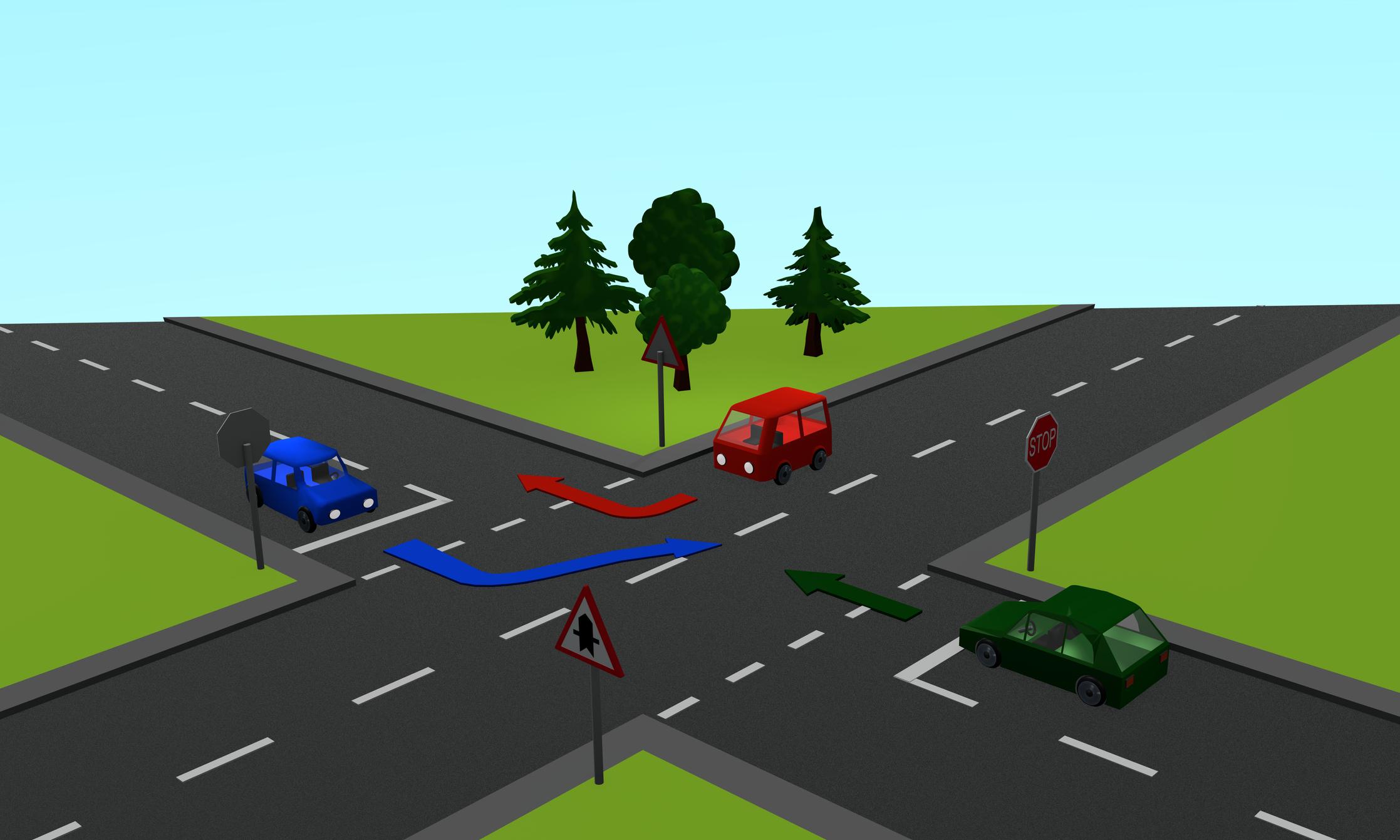 Mi a helyes haladási sorrend, ha a Z a zöld, a P a piros, a K a kék autót jelzi?