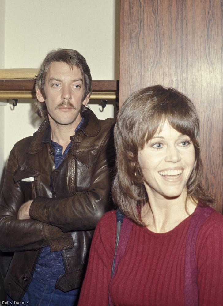 Még két filmsztár: ők Donald Sutherland és Jane Fonda