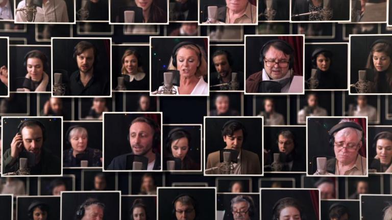 Művészek karácsonyi köszöntői a Műpától a Strandig