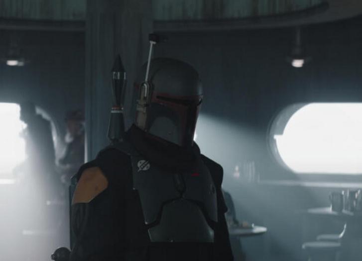 Boba Fett a The Mandalorian sorozat egyik jelenetében
