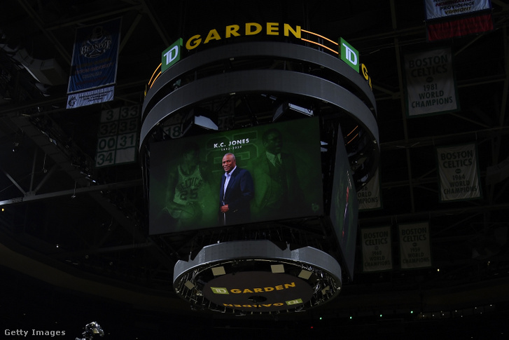 K.C. Jones képe a Boston Celtics - Brooklyn Nets mérkőzésen 2020. december 25-én