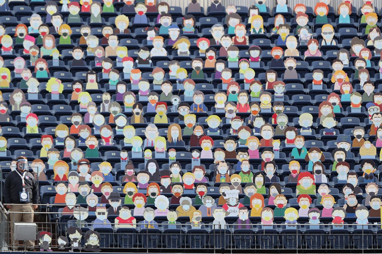 Az üres lelátókra egyedi megoldást találtak Denverben: a Broncos amerikaifutball-csapatának Tampa Bay Buccaneers elleni meccsére a South Park animációs sorozat szereplőit ültették a nézőtérre. A találkozón egyébként 5700 szurkoló is a helyszínen drukkolhatott.