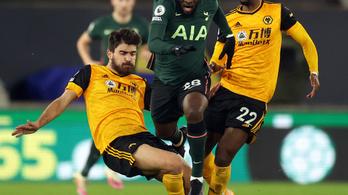 A hajrában bukta el a győzelmet a Tottenham a Wolverhampton otthonában