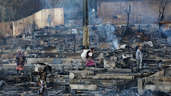 Családi vita miatt felgyújtottak egy menekülttábort Libanonban