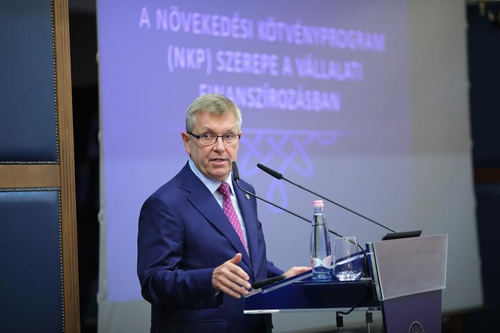 Matolcsy György bemutatja a Növekedési Kötvényprogramot a Magyar Nemzeti Bankban 2019. szeptember 17-én