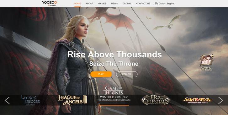 A Yoozoo egyik legambiciózusabb projektje a Game of Thrones Winter is Coming volt (Forrás: Yoozoo.com)